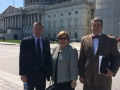 l-to-r-Scott-Stayton-Diann-Scott-and-Ken-Keene-from-Franklin-Electric-Co.-Pause-Between-Hill-Visits