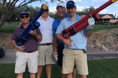 Dan Story, Ken Keene, Jeff Hyson, and Andy Sayegh test thier Air Cannon skills