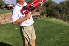 Gerry Duggan take a shot with the Air Cannon