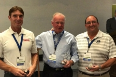 L to R Second Place Winners of WWT Golf Tournament Don Wesdell, Bo Andersson, and J.J. Troccoli
