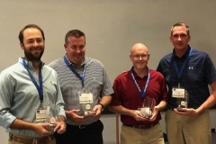 l to r First Place Winners of WWT GOlf Tournament Merritt Partridge, Matt Servant, Scott Kurilla, and David Rutz