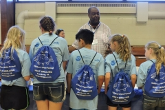 Students with Holt Drilling backpacks