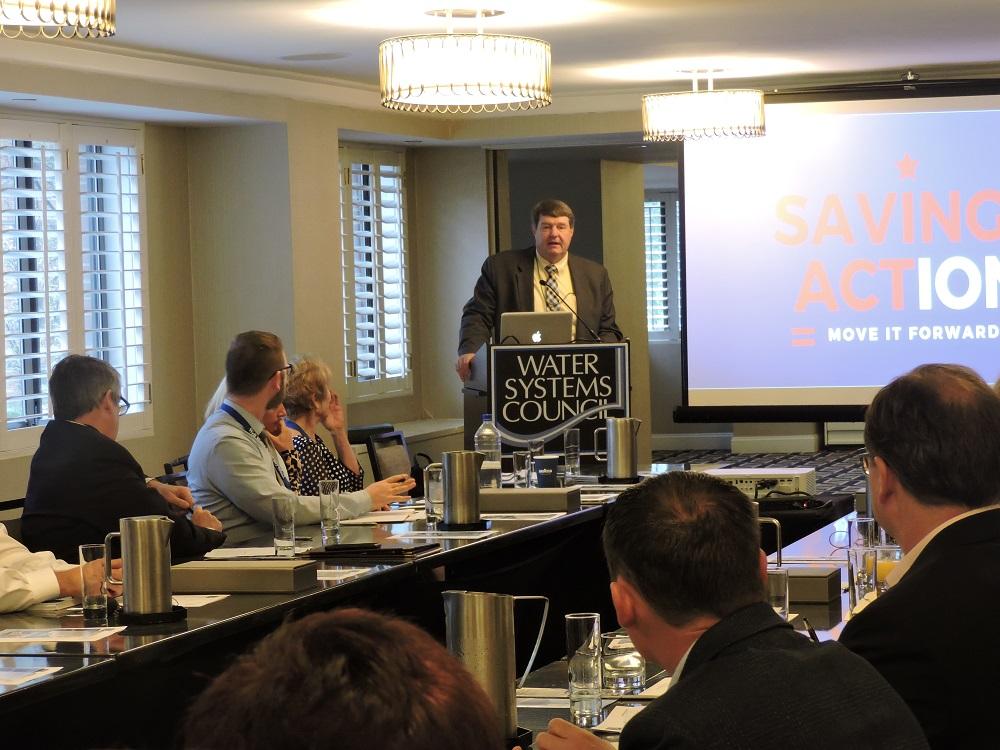 EPA's Lee Forsgren addresses WSC members
