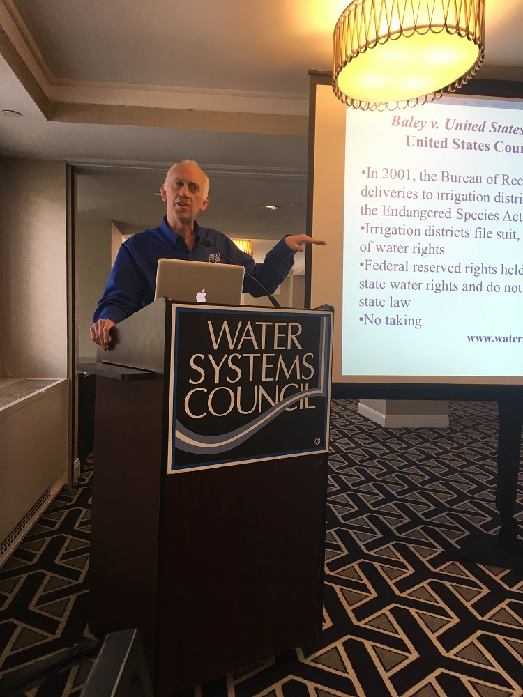 Jesse Richardson disccusses legal challenges at the WSC Members' meeting