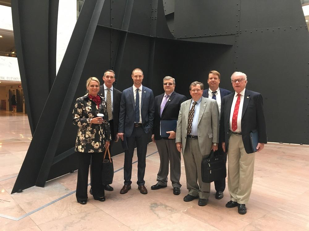 Susan O'Grady, David Rutz, Chris Preston, Mark Ball, Burnet Chalmers, Jeff More and Bo Andersson on Capitol Hill