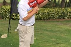 Dan Story, Grundfos Pumps Corp, takes a shot
