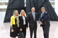Jill Boudreaux, Susan O'Grady, David Rutz, and Jeff More hit the HIll 2