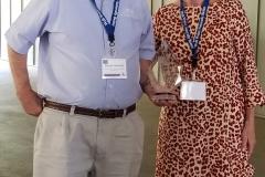 Burnet Chalmers with WSC ED Margaret Martens