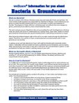 wellcare® Information Packet #3 – Possible Contaminants
