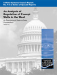 Special Report No. 7 – An Analysis of Regulation of Exempt Wells in the West